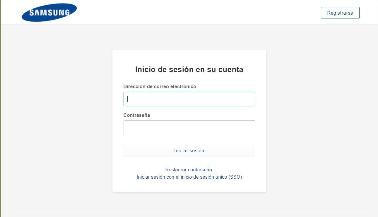 box cloud Inicio de sesion personalizado samsung