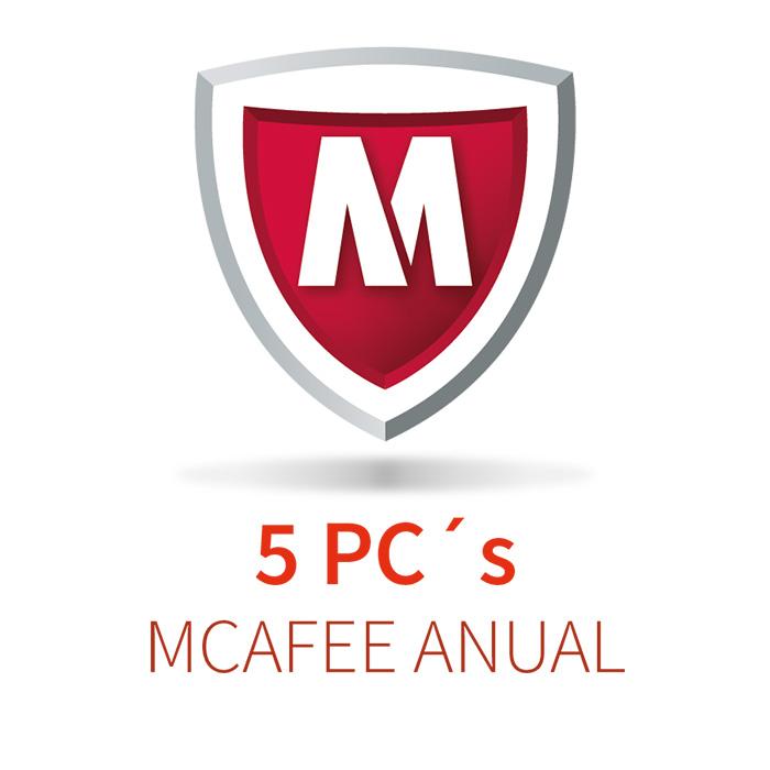 MCAFEE 5 (5 PCs) ANUAL