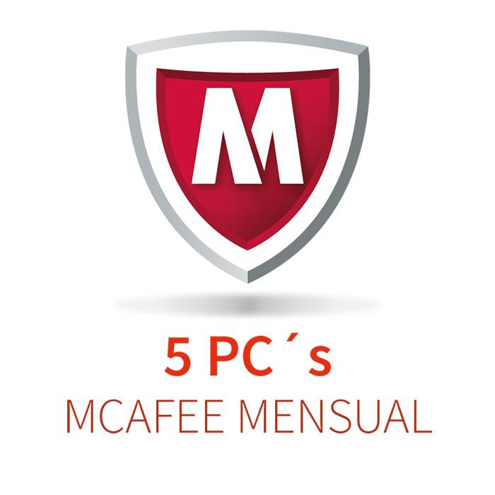 MCAFEE 5 (5 PCs)  MENSUAL