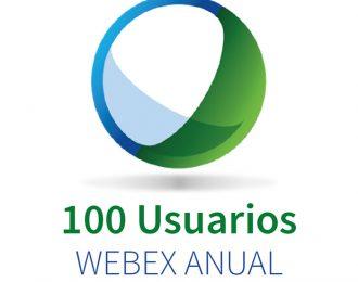 WEBEX 100 (100 Participantes + Audio PC) ANUAL