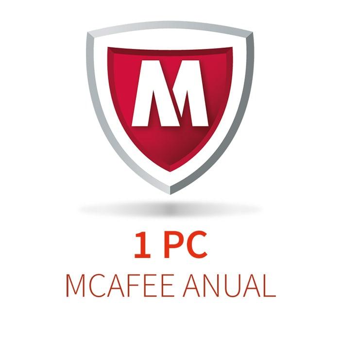 MCAFEE 5 (1 PC)  ANUAL