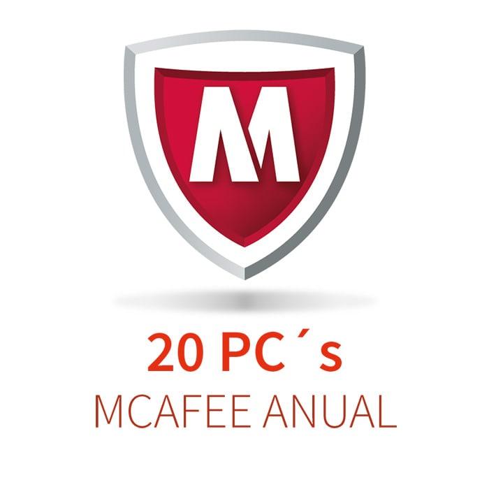 MCAFEE 5 (20 PCs)  ANUAL