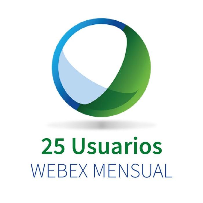 WEBEX 25 (25 Participantes + Audio PC) MENSUAL