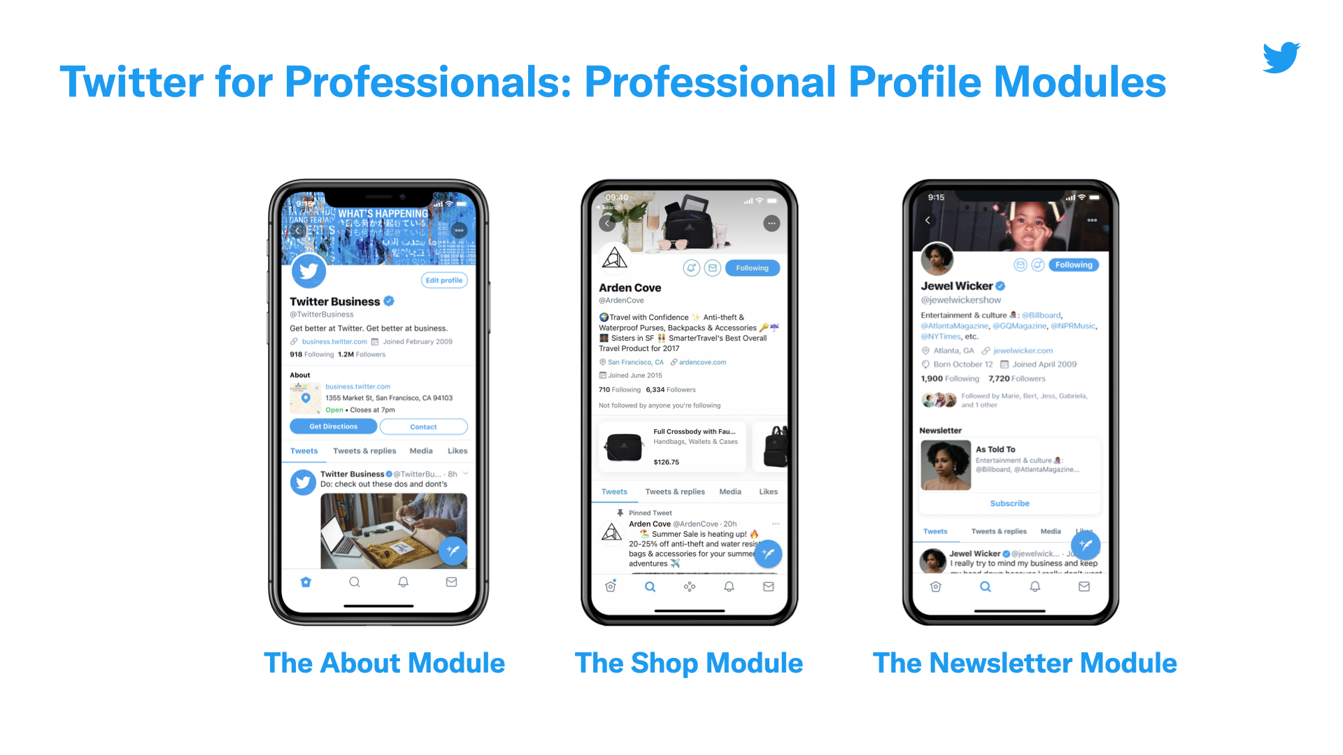 perfil profesional de twitter